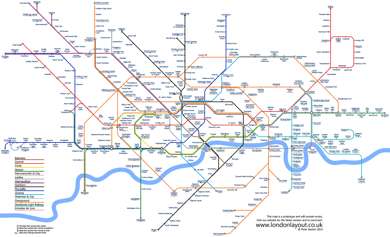 alternative London Tube map