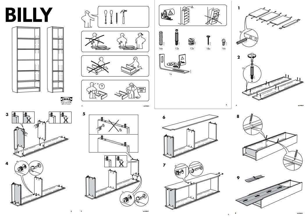 Assembly Instructions Assisting The Non Visual Ikea Customers