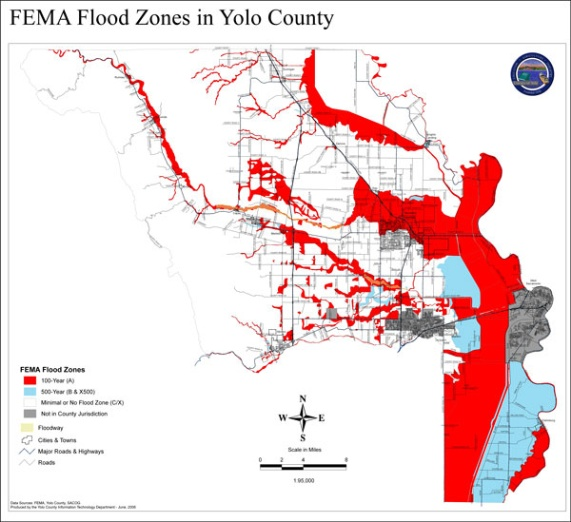 FEMA flood zone map