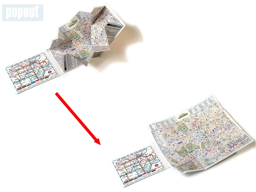 PopOut London map