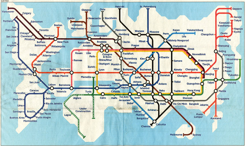 worldwide Underground map